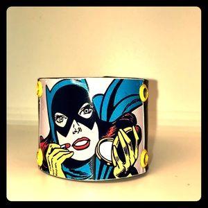 Jewelry - Batgirl comic vinyl cuff bracelet